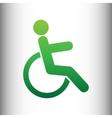 Disabled sign Green gradient icon vector image