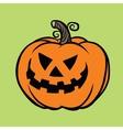 Evil Halloween pumpkin vector image