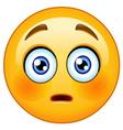 flushed emoticon vector image