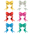 Holiday Bows Set vector image