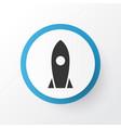 rocket icon symbol premium quality isolated vector image