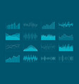 set of hud and infographic elements data analysis vector image