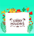 summer background with beach objects vector image