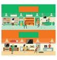 Eco shop and electronic vector image
