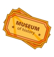 Tickets to the Museum of History icon vector image