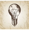 Hand drawn - realistic light vector image