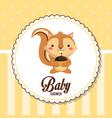 baby shower card invitation cute chipmunk vector image