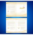 booklet catalog brochure folder jewelry bijouterie vector image