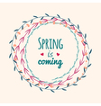 spring floral frame with text vector image