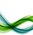 Green blue line fusion abstract swoosh wave layout vector image vector image