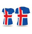 Flag shirt design of Iceland vector image