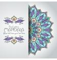 Mandala pattern design template Vintage ethnic vector image
