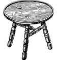 Stool made from natural wood vector image