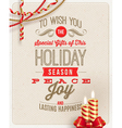 Christmas type design with holidays decoration vector image