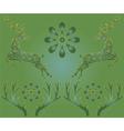 deer green vector image