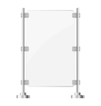 Glass screen with metal racks eps10 vector image