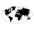 graphic map of the earth vector image