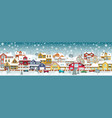 life in the suburbs winter day vector image