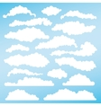 Set of fluffy clouds for design layouts vector image