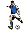 soccer player shooting a ball vector image