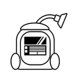 vacuum cleaner appliance cleaning house outline vector image