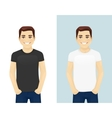 Young man in T-shirts vector image