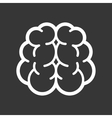 Brain Logo Icon on Black Background vector image vector image