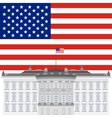 White House and the US flag vector image vector image