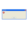 Error pop up window vector image