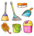 cleaning supplier vector image