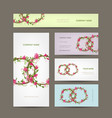 business cards collection wedding design vector image vector image