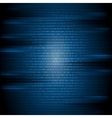 Dark blue binary code tech background vector image