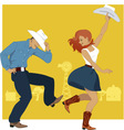 Country Western Dance vector image