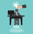 Businessman With A Light Bulb Idea Concept vector image