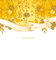 ribbon floral vector image
