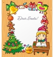 boy letter to snata vector image vector image