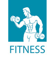 Healthy lifestyle design Fitness couple and vector image
