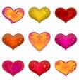 Valentine heart set vector image vector image