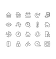 Line Smart House Icons vector image