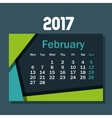 calendar february 2017 template icon vector image