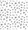 Pattern with Social media business doodles vector image