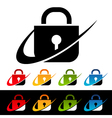 Swoosh Security Lock Logo Icons vector image vector image