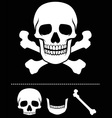 skull and crossed bones icon vector image vector image
