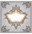 abstract retro vintage floral frame vector image vector image