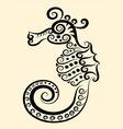 Seahorse decorative vector image