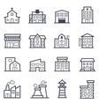 Building Icon Bold Stroke vector image