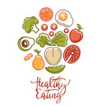 fitness food poster of sports healthy diet food vector image