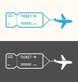 Linear image of the ticket vector image