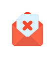 mail symbol envelope icon delete envelope vector image