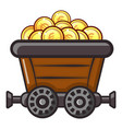 money trolley icon flat style vector image
